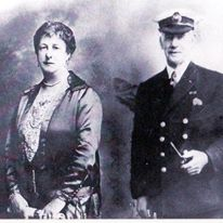 Capt Albert Turner with his first wife, Caroline | Wivenhoe Memories Collection