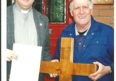 A Cross in St Mary's made from the Lime Tree which once stood in the Churchyard