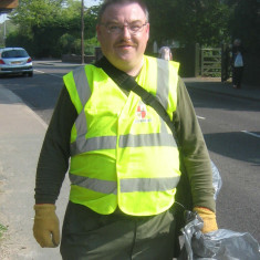James Eborn who took litter-picking responsibility from Ray Smith in 2011 | Photo by Peter Hill