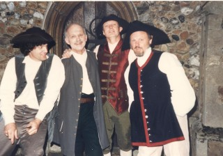 4 male actors: L to R:    Jerry Reid, Ray Bowen, Bill Heslop and Brian South