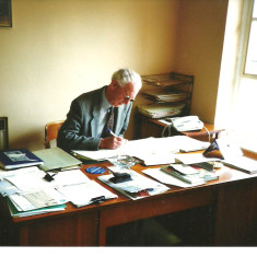 Philip Baines who was Wivenhoe's Town Clerk from 1985 until he retired in 1991 | Photo by Toni Stinson