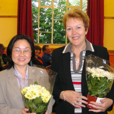 Xiaomei-Li and Maureen who both worked for the Council for several years who shared the role of Receptionists in the early 2000s | Photo by Peter Hill
