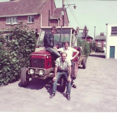 1978 - A different tractor, the Czech Zeta.  The young lad is Colin Oliver's son Martin, who helped with the grass cutting that year. | Wivenhoe Town Council