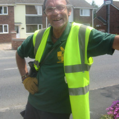 Ray Smith, Wivenhoe's litter-picker for many years who retired in 2011. | Photo by Peter Hill