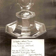 The inkwell presented to Capt. Albert Turner on his marriage on 27th March 1930 by members of the Royal Household, Buckingham Palace