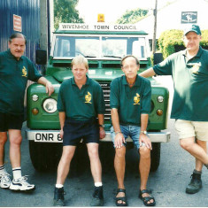WTC's non-office team in 2001. Left to right: Les Fitch (Caretaker), Jim Young (Snr Groundsman), Ray  Smith