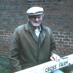 A familiar sight, Claude Watsham standing at the gate to Cross Farm in the 1990s.   | Photo: Peter Hill