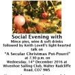 The WHG Christmas Meeting - Wed 14th December 2016