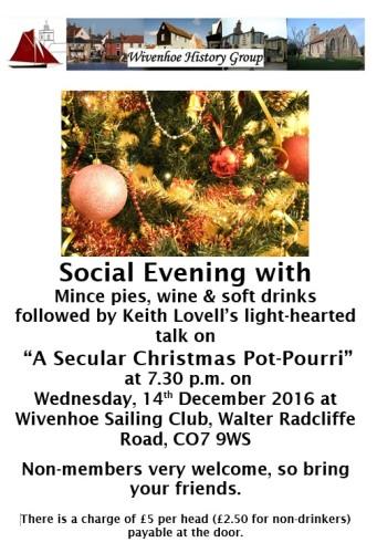 The WHG Christmas Meeting - Wed 14th December 2016