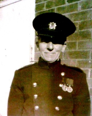 Sammy Oliver, one of Wivenhoe's first firemen
