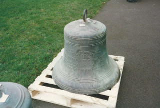 The inscription on this the Tenor Bell reads:  This peal of bells was recast and rehung A.D. 1905. The cost was defrayed by public Subscription. Sinclair Carolyn MA Rector.  F.C .Price & J. E. Heath - Churchwardens       Photo from Jane Cole