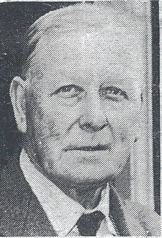 Cllr Percy Chaney | From a newspaper cutting kept by Neil Johnson
