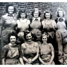 The local Land Army girls in 1942. Back row: Doris Radford (Wivenhoe), Joan Blundon, Florrie Goodwin (Alresford), Barbara Potter (Wivenhoe), Mary Braithwaite (Rectory Road, Wivenhoe). Front row: Dot Richer (Alresford), Joan Potter, Audrey Ablitt (Hamilton  Road, Wivenhoe).  | Photo supplied by Florrie Goodwin
