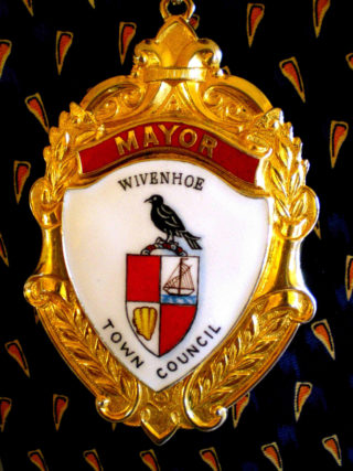 Wivenhoe Town Council produced a new badge and chain of office in 2001.   Photograph from Clive Peck