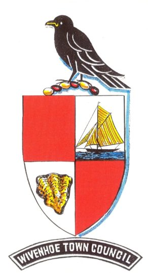 The Town Council added a bar under the crest when they adopted it from the Wivenhoe Urban District Council in 1974