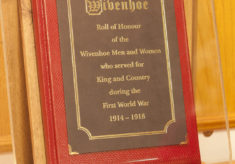 Presentation of the Roll of Honour to the Wivenhoe Branch of the Royal British Legion