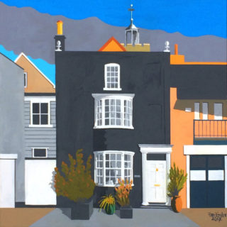 Storehouse - Dickie & Dennis's house on the quay, Wivenhoe. Second in the 'Wivenhoe Revisited' series' - 2017 (painted from photograph taken by James Dodds). | Alan Taylor