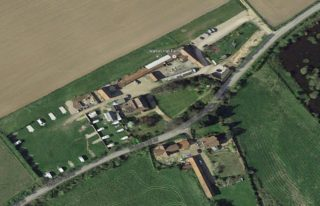 Walton Hall Farm - an ancestral home of the Walton family who once owned Wivenhoe Hall and the manor of Wivenhoe.   | Image from Google Earth