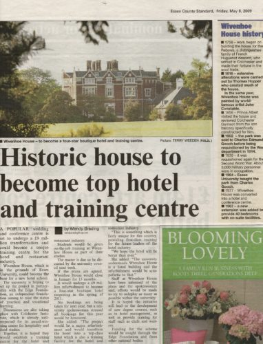 Cutting from Essex County Standard, Friday 8 May 2009 | Essex County Standard