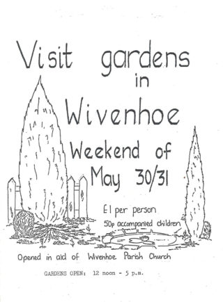 The programme cover of the very first Open Gardens in 1987