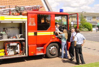 The Wivenhoe Fire Engine at an Open Day in 2002 | Photo by Peter Hill