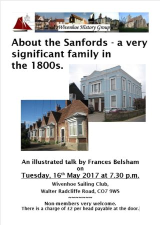 WHG Meeting - May 2017 about the Sanford Family