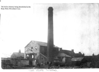 The Ropeworks chimney was demolished shortly after the Ropeworks business was sold in 1899 | Photo: Wivenhoe Memories Collection