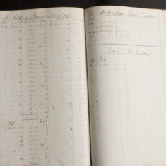 Pages from William Browne's Ropeworks accounts ledger   | Photo by Frances Belsham