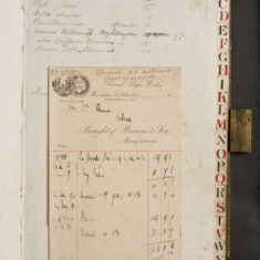 Accounts ledger for the Ropeworks owned by Browne &  Sons | Book photographed by Frances Belsham