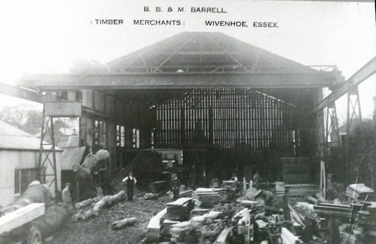 Barrell's timber works as it looked in 1920's