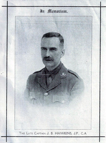 Picture of Captain John Bawtree Hawkins who died in WW1