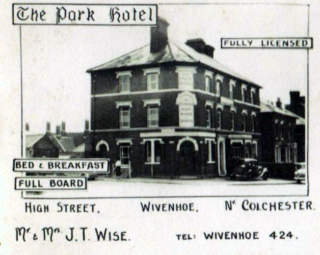 An advertisement for The Park Hotel in the 1950s  | Added by John Stewart - owned by Michael Mason