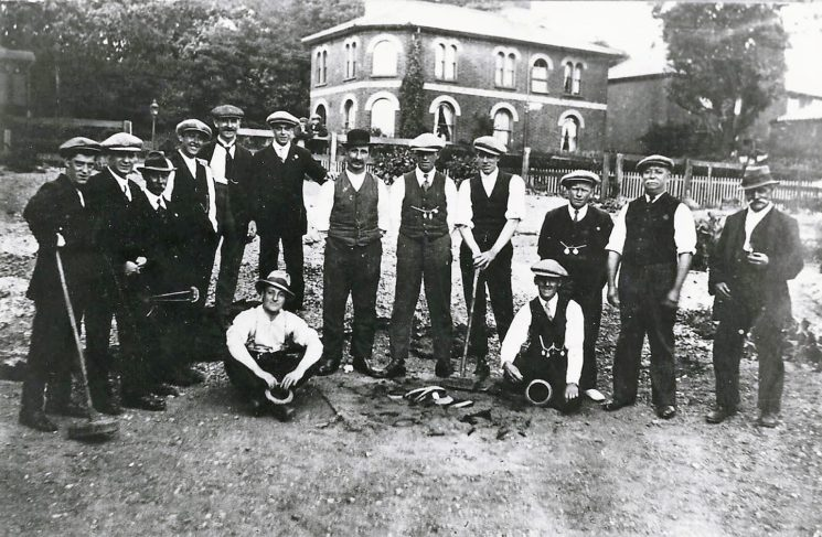 Quoits team at the Station Hotel
