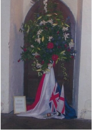 A flower arrangement from the 1998 St Mary's Church Flower Festival