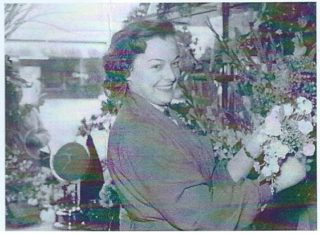 A young Sylvia Usher just after completing her florist apprenticeship