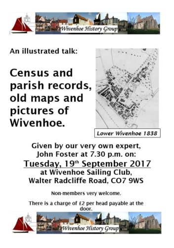 History Group Meeting in Sept 2017 - an illustrated talk by John Foster