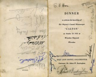 'Calton' Dinner menus + Photo's by Alf Jefferies