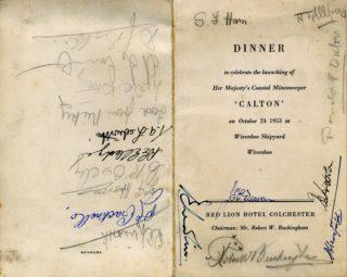 'Calton' Dinner menus + Photo's by Alf Jefferies