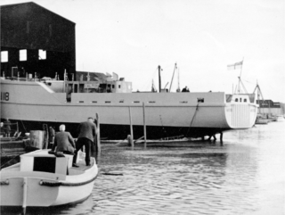 The Calton being launched | Photo by Alf Jefferies. Copyright Lynn Ballard.