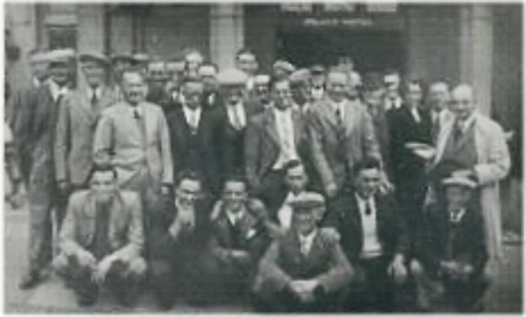 A works outing from The Wivenhoe Sand, Stone & Gravel Company in the 1930s     Photo loaned by Terry Dykes