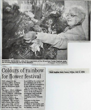 Sylvia Usher, one of the organisers of the St Mary's Flower Festival, held in 1998 | From EADT newspaper 3rd July 1998