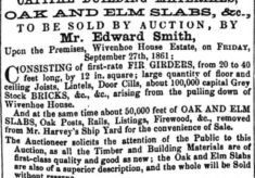 Sale of Capital Building Materials 27 September 1861