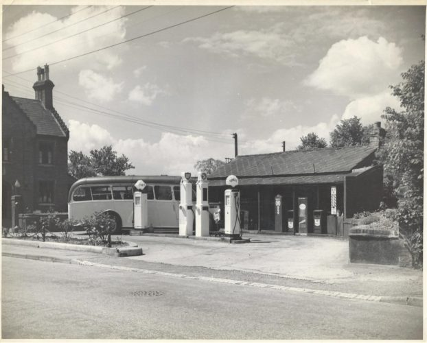 Cedric's garage in its early days | Picture loaned by Pauline Peck