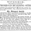Notice of Auction of 30 Building Plots 20 May 1864