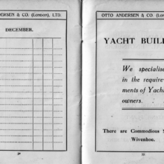 A useful notebook to promote Wivenhoe Shipyard | Scanned copy from the Wivenhoe Memories Collection