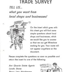 The Trade Survey was conducted by the Town Council in 1996 as part of Project 2000 organised to promote Wivenhoe businesses. The artwork for the survey form was by Susannah Bradley. | Peter Hill