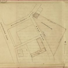 Plan attached to 29.10.1864 Deed referring to the purchase of land by John Green Chamberlain   Essex Record Office