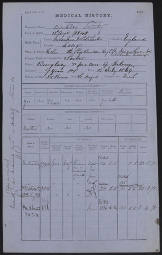 Record of medical conditions