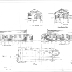 The 1917 drawings of the Wivenhoe Goods Shed rebuilt after an earlier fire