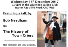 History Group meeting Wed 13th December 2017 at 7.30pm